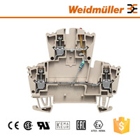 Weidmuller WDK 2.5 LD RT 24VDC -+ 2 Way Electronic Component Terminal Block Cable Connectors