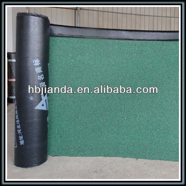 aluminum foil coated fiberglass reinforced SBS modified bituminous waterproof roof membrane for roof