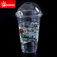 Hot sale food grade clear PET plastic cups, cold drinking cups