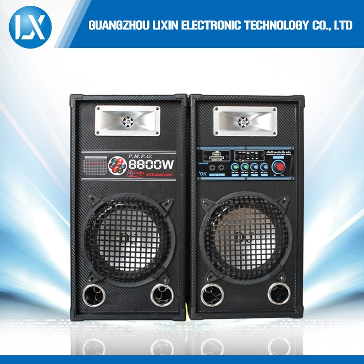 8 inch multimedia pro pa computer speaker system with mic input
