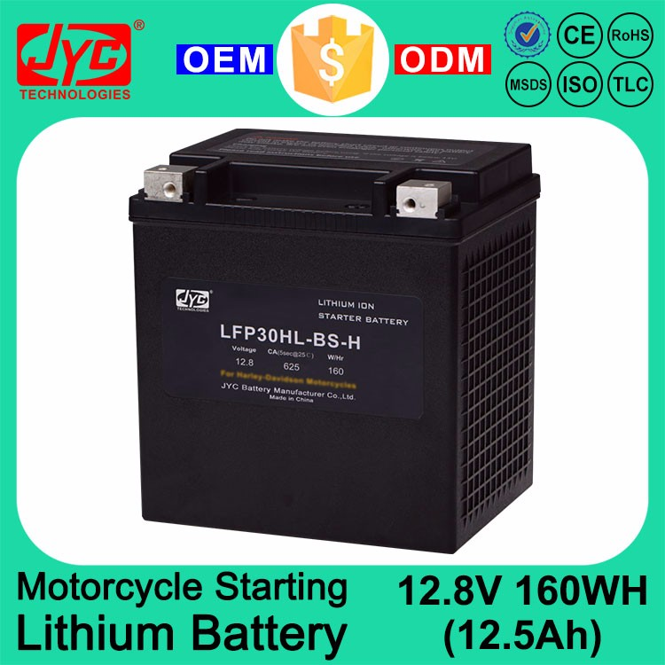 China Best Price 12V Motorcycle Starting Lithium ion polymer LiFePO4 Battery Brand for HD Motorcycle