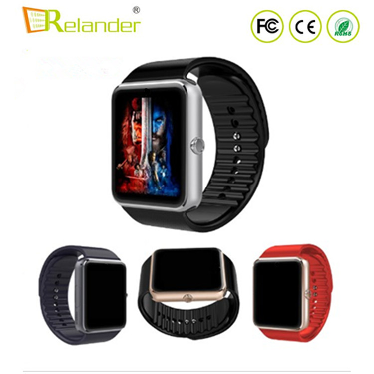 Cheap bluetooth sim card bluetooth mobile smart watch phone android GT08 smartwatch PK <strong>a1</strong> smartwatch