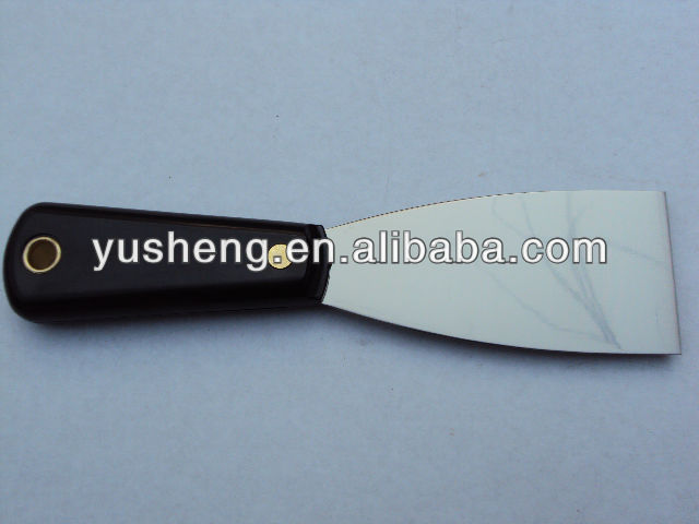 High quality durable flexible blade putty knife scraper with rubber grip