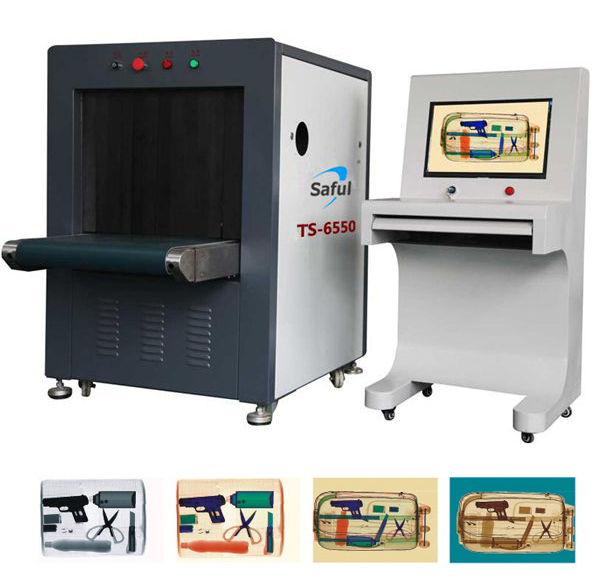 Airport security inspection machine luggage/pacel/suitcase/baggage scanners with high resolution 17inch color lcd monitor