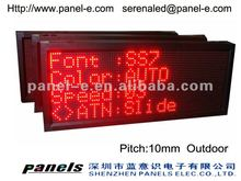 P10 outdoor Led moving message display sign,led advertising board,led signs