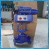 electric actuator used control globe valve flow control adjustable