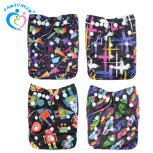 Newborn Size Fits All PUL Waterproof Fabric European Baby Cloth Diaper