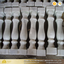 White marble balustrade stone