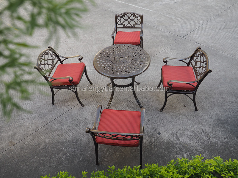Hotsale Cast Metal Outdoor Garden Dining Furniture, Heavy Duty Cast Aluminum Patio Set