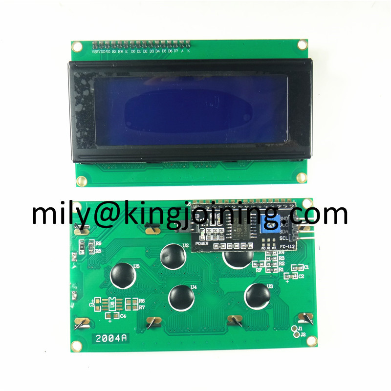 KJ200 Blue 20x4 20 X 4 LCD 2004 Display Module With I2C Backpack