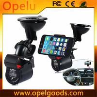 Multi-function In-Car Phone Holder MP3 Player Hands-free Speaker smart phone fm transmitter