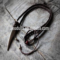 M510236919 Fashion Braided Leather Tusk Buffalo