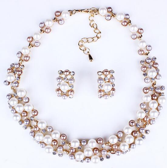 Manufacturers network explosion models imitation pearl jewelry gold jewelry sets 14k gold jewelry wholesale