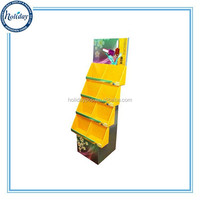 Sotre Retail Floor Type Cosmetics 4 Tire Display Stand
