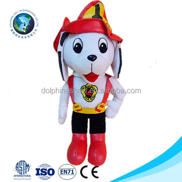 Cheap plush animal toy wholesale fashion custom mascot white stuffed soft plush dog toy with LOGO