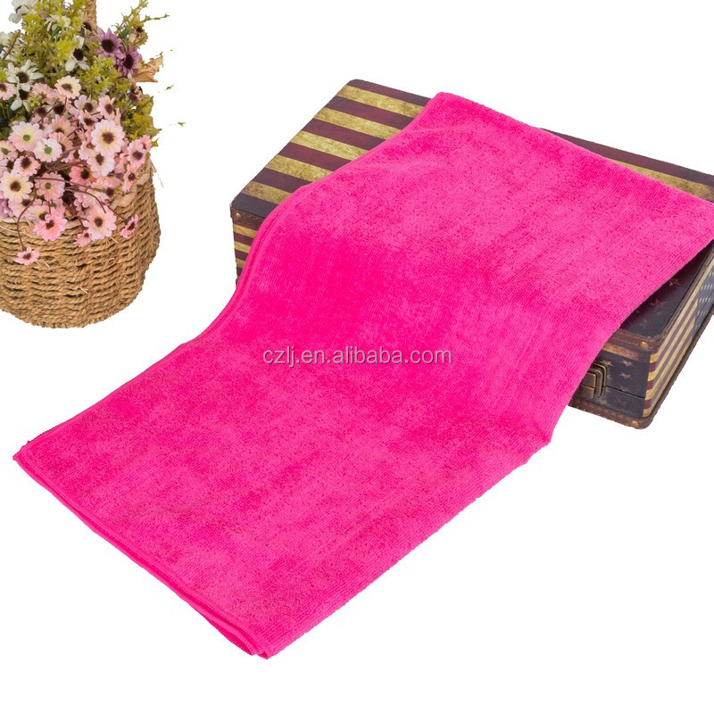 Manufactures price Jacquard 100% organic microfibre terry towelling bath towel with embroidery dobby border
