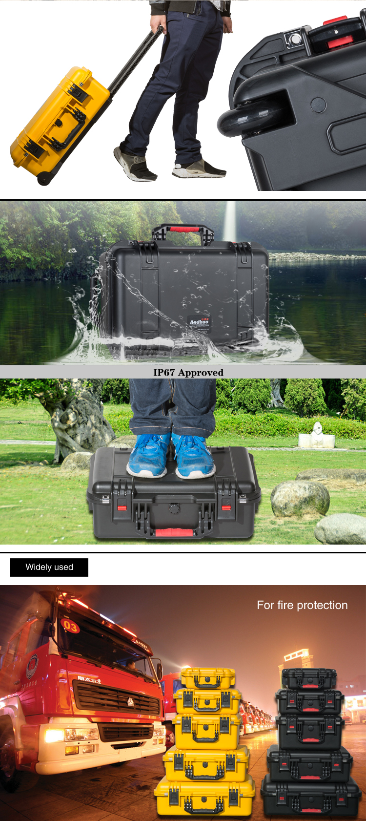 Waterproof shockproof hard case