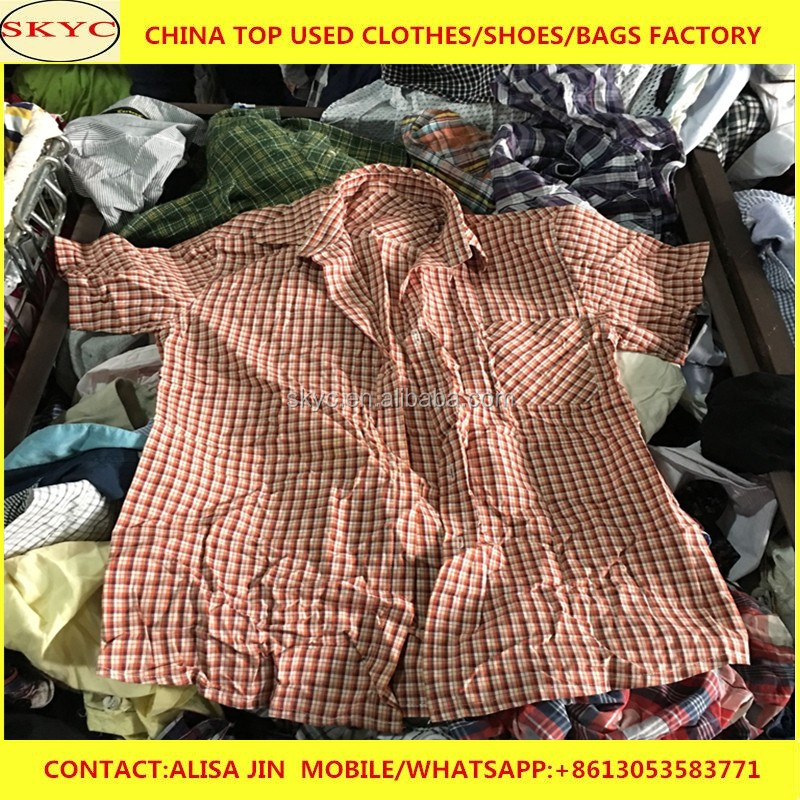 Dongguan used clothing packing list mixed summer season used clothes items with cheap price for Africa importers