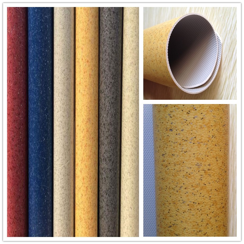 Anti-static Waterproof Non-slip Pvc Fiberglass Backed Vinyl Flooring Tile