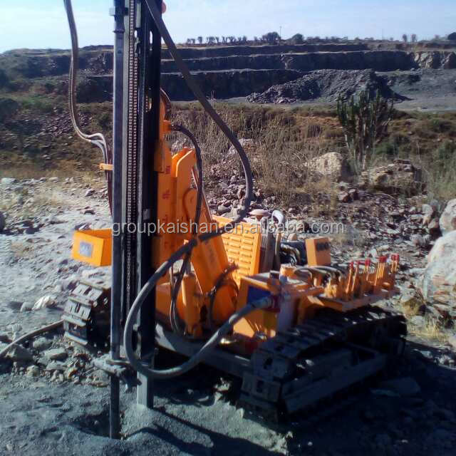 For sale! Chinese cheap price crawler KY100 portable pneumatic hydraulic quarry rock drilling rig to drill blast hole