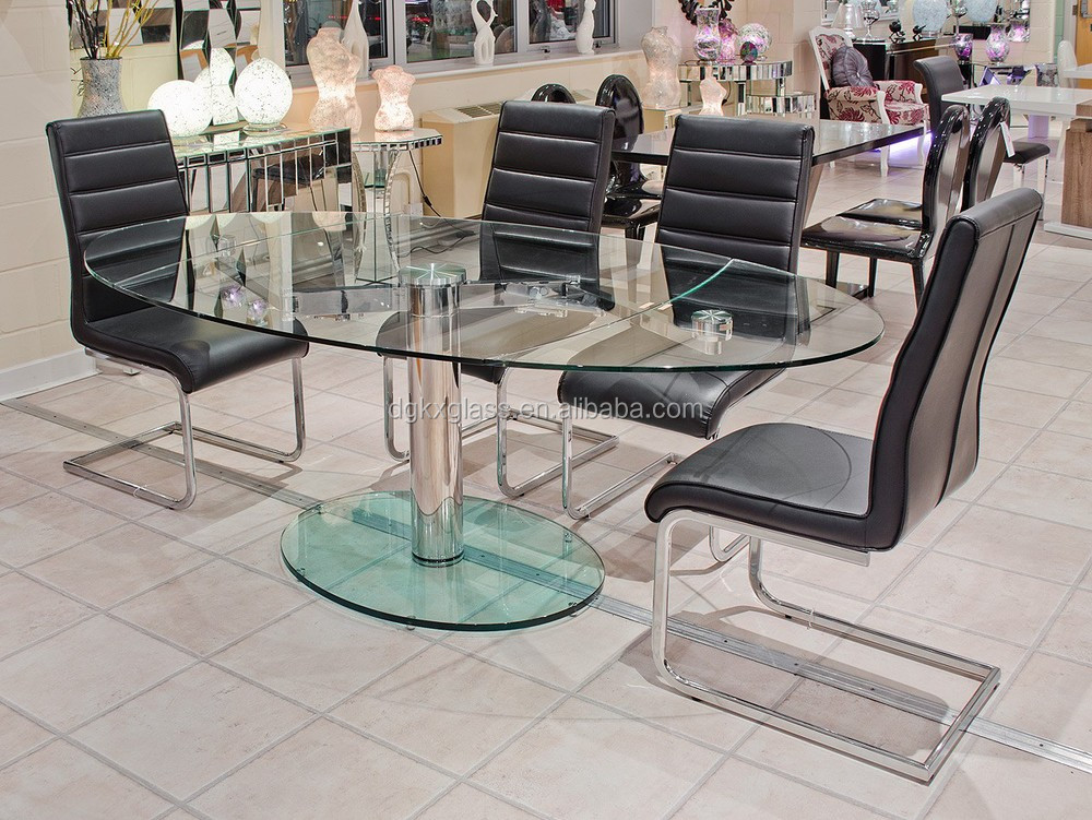 Kunxing Tempered glass oval glass coffee/dining table m2 price