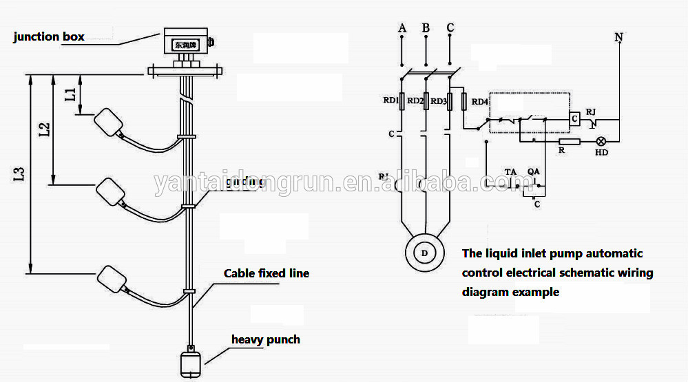 Usk-99l Hot Sales Cable Float Level Switch Water Level ...