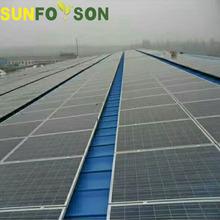 Sunforson 10kw 100kw 1MW Solar PV panel Metal Tin Roof Mounting System Brackets
