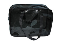 Professional color cheap clear PVC makeup case with Carry Handle