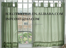 Polyester Fabric Kitchen Curtain with printed or Jacquard,Loops curtain