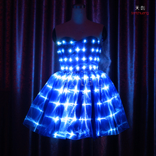 Lighted Blue Ballet Tutu,Sexy Belly Dance Costumes, LED Luminous Clothes