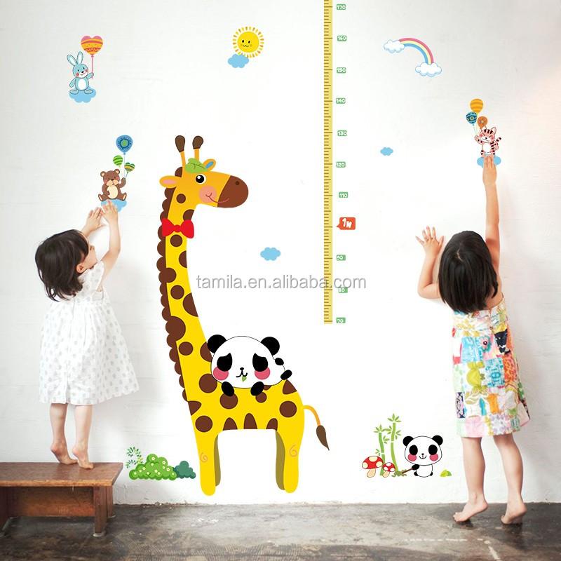 Surprising Wholesale Good Price Reusable Cartoon Giraffe Pvc Height Removable Waterproof Growth Chart Kids Room Wall Decor Stickers Alibaba Com Download Free Architecture Designs Griteanizatbritishbridgeorg