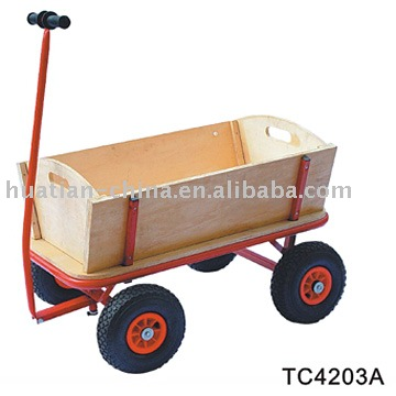 Tool Cart TC4203A,Wooden trailer with flexible front &amp