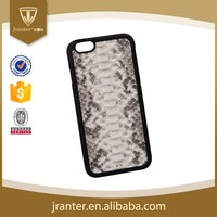 Genuine Leather Hard Case for iPhone 6 Python Snakeskin 5 Inch Mobile Phone Case