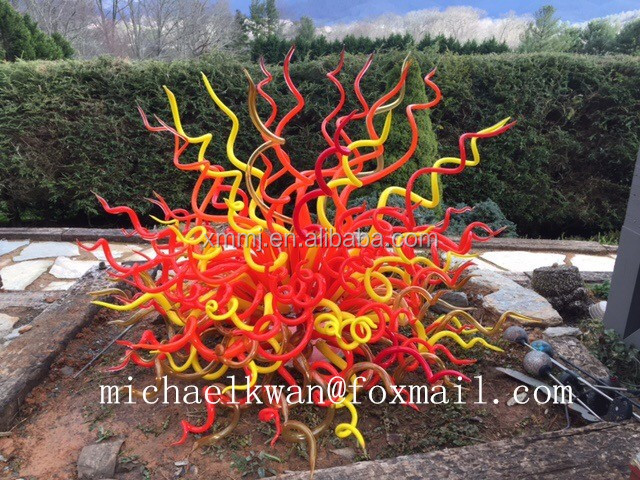 Modern hand blown murano style outdoor garden decorative art large floor glass sculptures