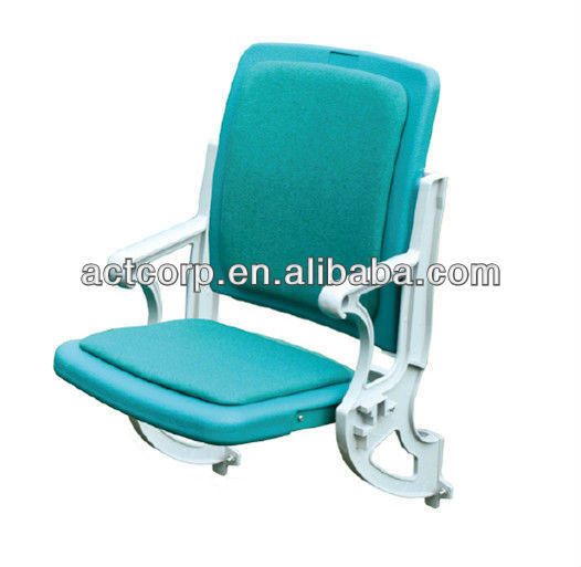 Upholstered stadium VIP chair seat, folding chairs padded seat