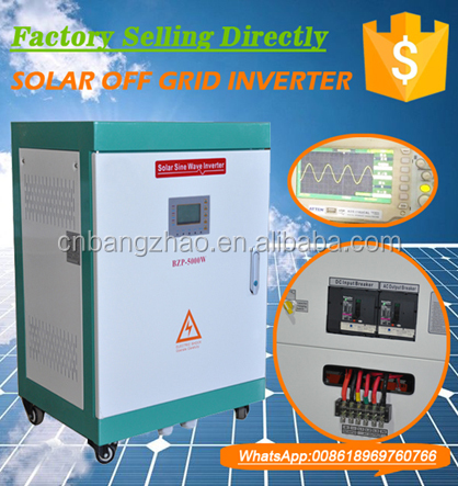 120VDC to 380V 3-phase solar power inverter for 5kw hybrid system