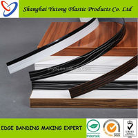 high glossy furniture pvc plastic edge banding strips for landscaping furnitures