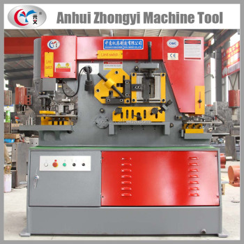 manufacturing shearing and oval hole punching ironworker