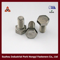 DIN933 Flat Allen Head Car Wheel Bolts Stainless Steel SS304