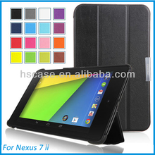 Tri-Fold Slim Leather Magnetic Tablet Case for Google Nexus 7 Case Sleep Wake W/Stand