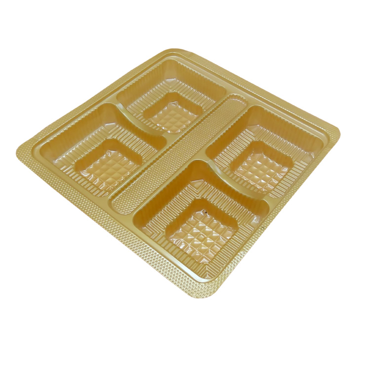 Custom size disposable blister tray mooncake plastic packaging tray