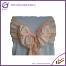 lamour satin sashes peach beautiful shiny satin chair for wedding