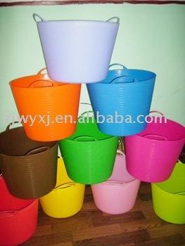 Flexible Laundry Basket,Pe Plastic Trough - Buy Plastic Round Laundry ...