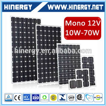 monocrystalline solar panel price india 60w solar cell module price per watt solar panels in high quality