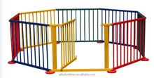 European Quality Standard Baby Playpen 8 Panel Wooden Frame Kids Play Center Yard Painted