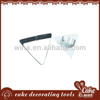 Triangle cookie cutter with handle on sale
