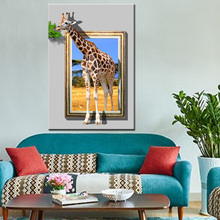 High quality wall art 3D Animal print photo canvas painting for decor