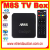 Firmware Update Amlogic S812 M8s Android 4.4 Kitkat Smart Tv Box 4K 2G 8G Bluetooth Quad Core M8S arabic google tv box