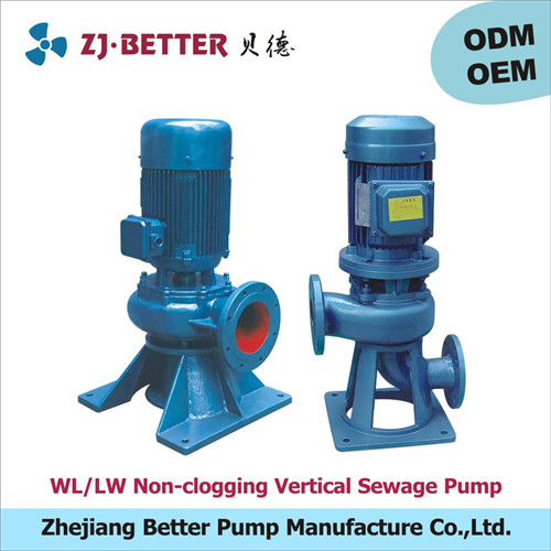 LW/WL Non-clogging 60hp sewage water centrifugal inline pumps price