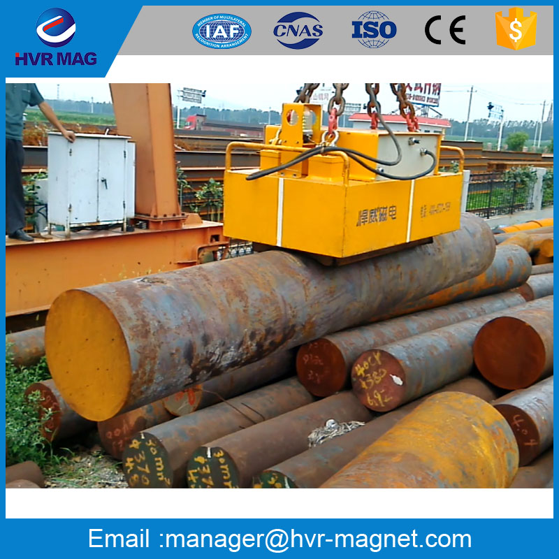 Steel bar magnetic lifter with electro permanent magnet mould for heavy round steel bar lifting